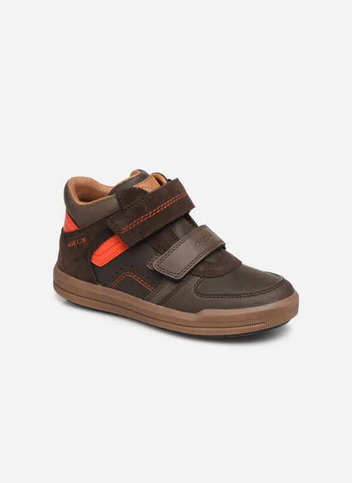 Baskets Geox J Arzach Boy J944AB Marron vue détail/paire