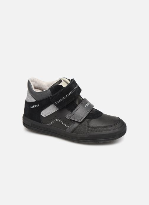 Trainers Geox J Arzach Boy J944AB Black detailed view/ Pair view