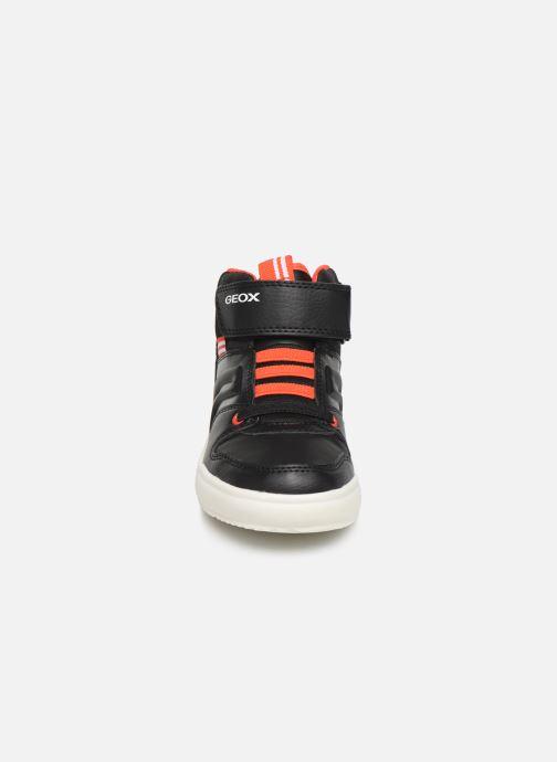 Baskets Geox J Grayjay Boy J949YC Noir vue portées chaussures