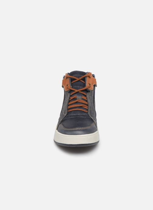Baskets Geox J Perth Boy J947RD Bleu vue portées chaussures