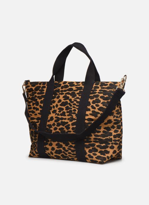 Handtassen Petite mendigote Clea Leopard Zwart rechts