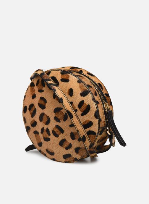Handtaschen Petite mendigote Sac Ringo Hair On braun ansicht von rechts