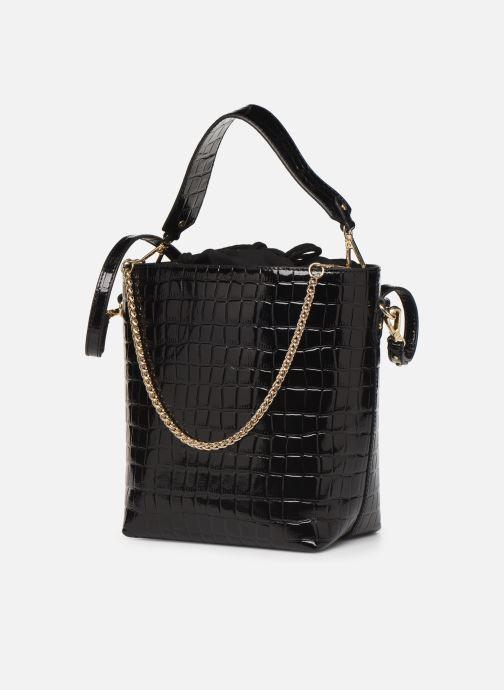 Sacs à main Petite mendigote Sac Louis Patent leather croco Noir vue portées chaussures