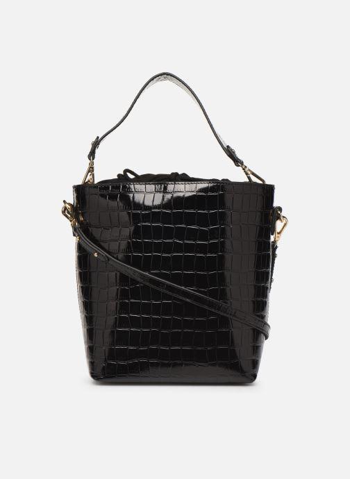 Sacs à main Petite mendigote Sac Louis Patent leather croco Noir vue face