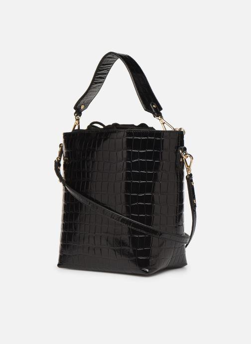 Sacs à main Petite mendigote Sac Louis Patent leather croco Noir vue droite