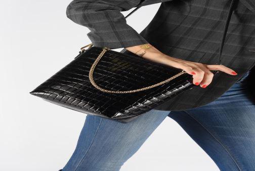 Sacs à main Petite mendigote Sac Louis Patent leather croco Noir vue bas / vue portée sac
