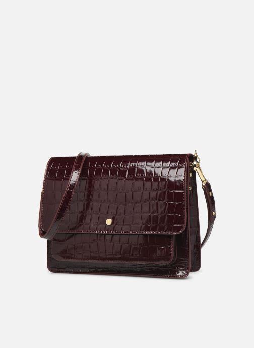 Handtassen Petite mendigote Sac Charles Patent leather croco Bordeaux model