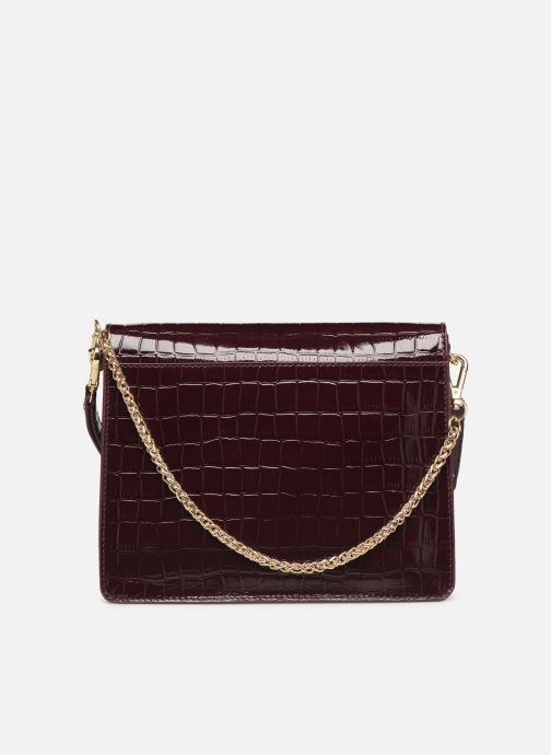 Handtassen Petite mendigote Sac Charles Patent leather croco Bordeaux voorkant