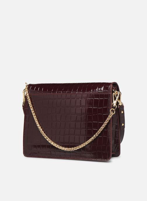 Handtassen Petite mendigote Sac Charles Patent leather croco Bordeaux rechts