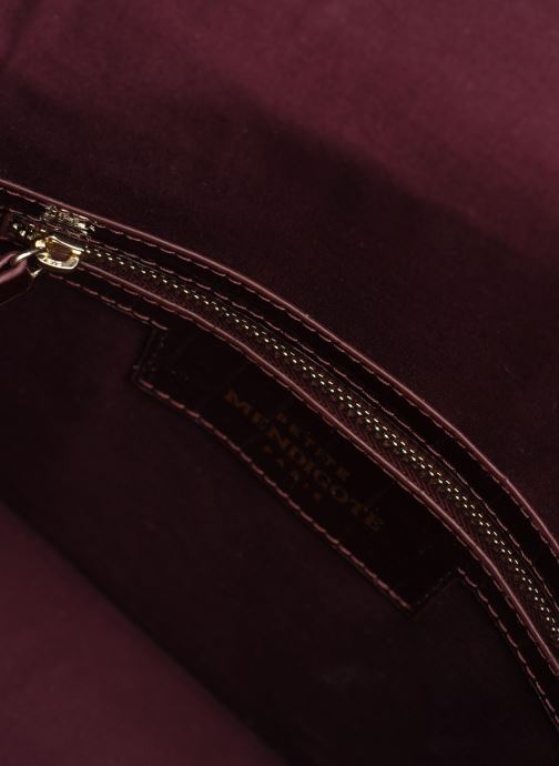 Handtassen Petite mendigote Sac Charles Patent leather croco Bordeaux achterkant