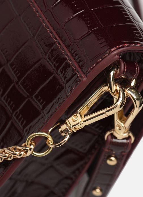 Bolsos de mano Petite mendigote Sac Charles Patent leather croco Vino vista lateral izquierda