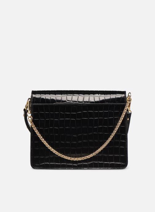 Handbags Petite mendigote Sac Charles Patent leather croco Black front view