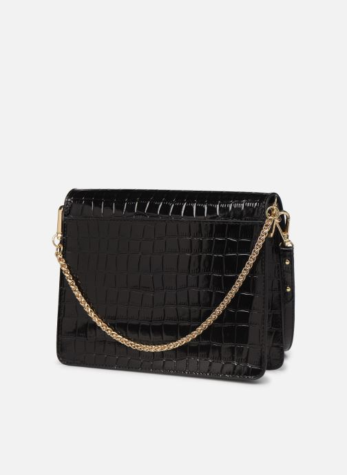 Handbags Petite mendigote Sac Charles Patent leather croco Black view from the right
