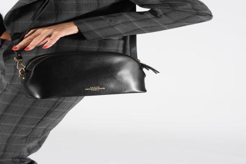 Sacs à main Petite mendigote Sac Gaspard Pu  coated leather Noir vue bas / vue portée sac