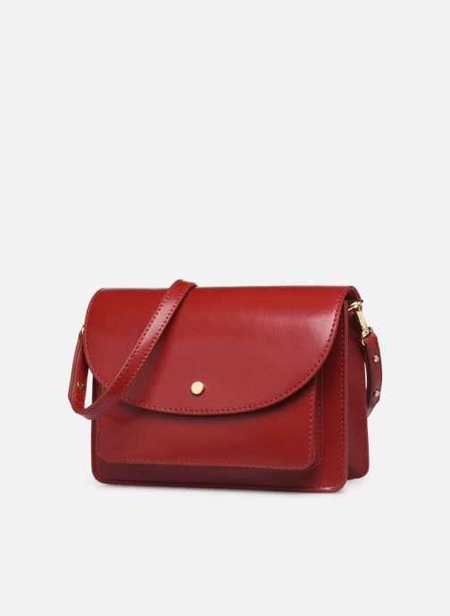 Sacs à main Petite mendigote Sac Jules Pu  coated leather Rouge vue portées chaussures