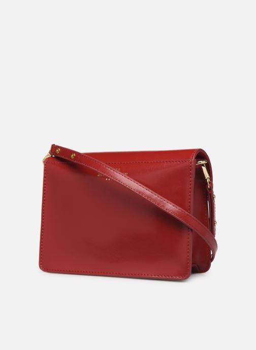Sacs à main Petite mendigote Sac Jules Pu  coated leather Rouge vue droite