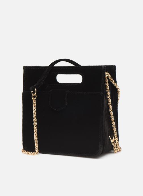 Handbags Petite mendigote Sac GAEL velvet Black model view