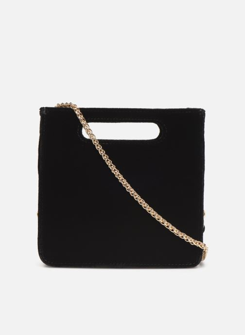 Handbags Petite mendigote Sac GAEL velvet Black front view