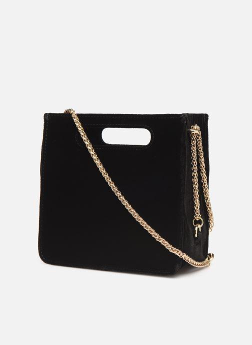 Handbags Petite mendigote Sac GAEL velvet Black view from the right