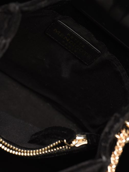 Handbags Petite mendigote Sac GAEL velvet Black back view