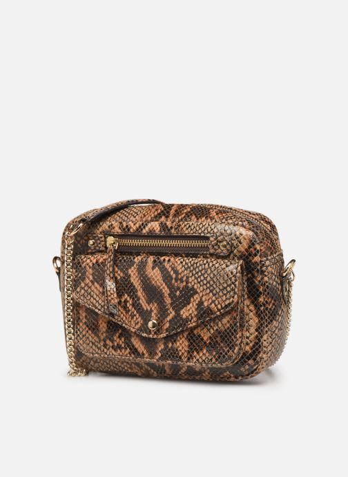 Bolsos de mano Petite mendigote Sac Jerry foil embossed python Marrón vista del modelo