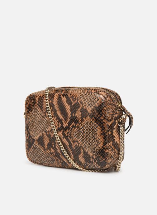 Bolsos de mano Petite mendigote Sac Jerry foil embossed python Marrón vista lateral derecha
