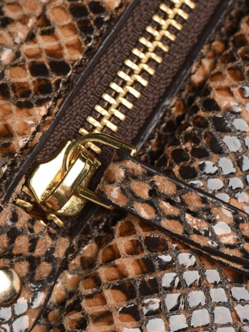 Bolsos de mano Petite mendigote Sac Jerry foil embossed python Marrón vista lateral izquierda