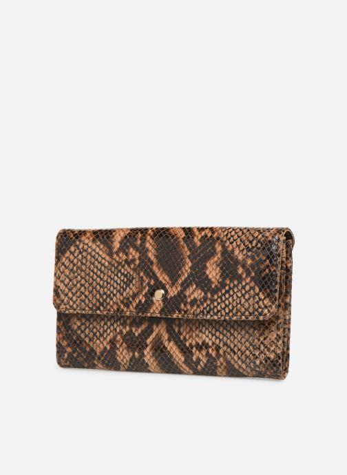 Wallets & cases Petite mendigote Porte feuille Pat Foil embossed Python Brown model view