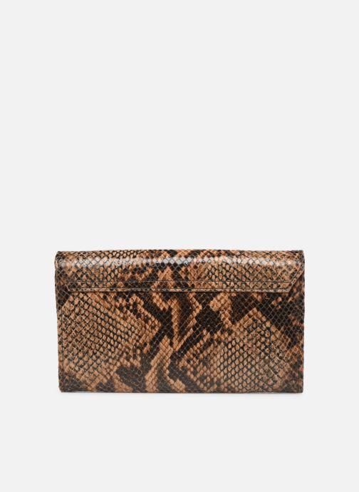 Wallets & cases Petite mendigote Porte feuille Pat Foil embossed Python Brown front view