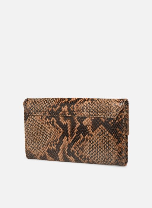 Wallets & cases Petite mendigote Porte feuille Pat Foil embossed Python Brown view from the right
