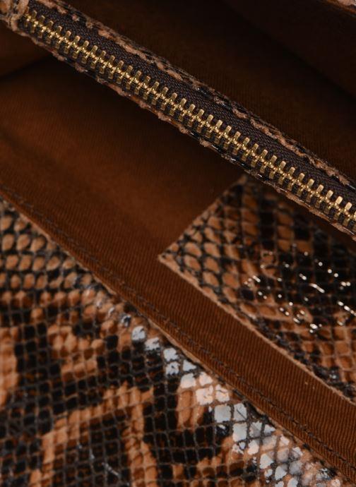 Wallets & cases Petite mendigote Porte feuille Pat Foil embossed Python Brown back view