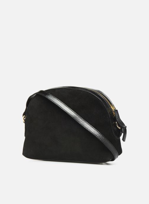 Sacs à main Petite mendigote Sac Lunch Cow nappa & patent leather Noir vue droite