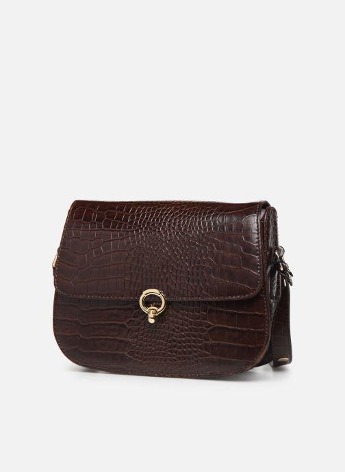Handtassen Petite mendigote Sac Romeo Croco Embossed leather Bruin model