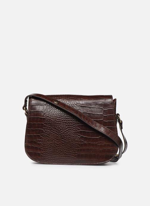 Handtassen Petite mendigote Sac Romeo Croco Embossed leather Bruin voorkant