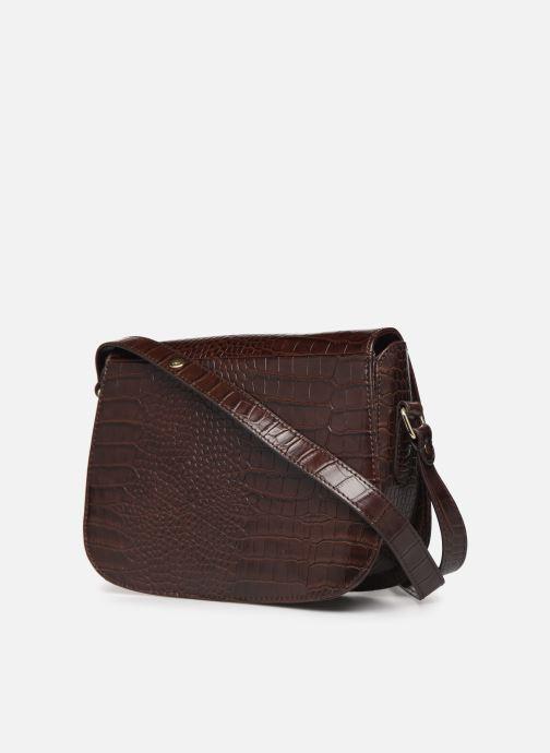 Handtassen Petite mendigote Sac Romeo Croco Embossed leather Bruin rechts