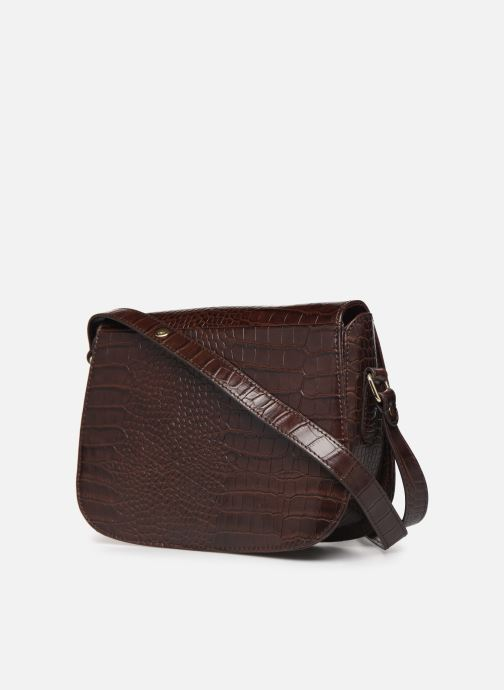 Handbags Petite mendigote Sac Romeo Croco Embossed leather Brown view from the right