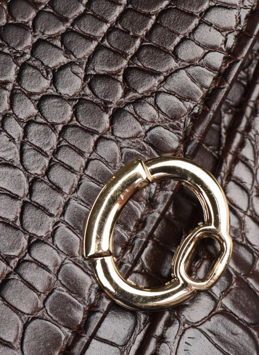 Handbags Petite mendigote Sac Romeo Croco Embossed leather Brown view from the left