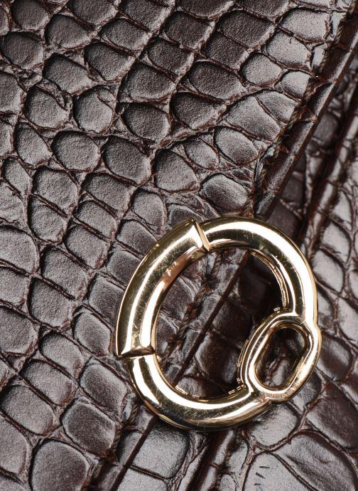 Handtassen Petite mendigote Sac Romeo Croco Embossed leather Bruin links