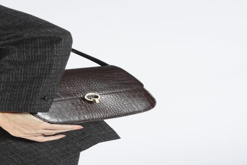 Handtassen Petite mendigote Sac Romeo Croco Embossed leather Bruin onder