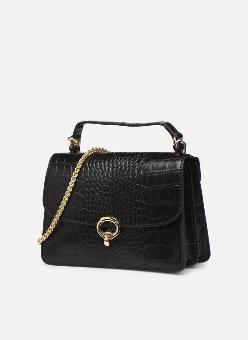 Borse Petite mendigote Sac ElvisCroco Embossed leather Nero modello indossato