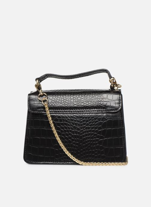 Handtassen Petite mendigote Sac ElvisCroco Embossed leather Zwart voorkant