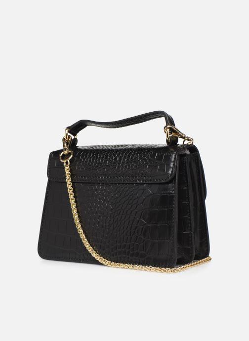Handtassen Petite mendigote Sac ElvisCroco Embossed leather Zwart rechts