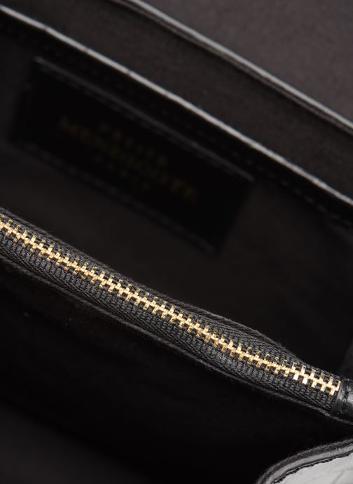 Handtassen Petite mendigote Sac ElvisCroco Embossed leather Zwart achterkant