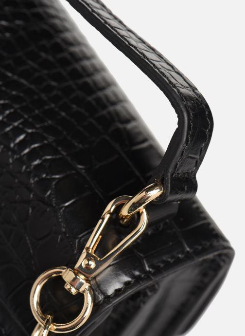 Sacs à main Petite mendigote Sac ElvisCroco Embossed leather Noir vue gauche