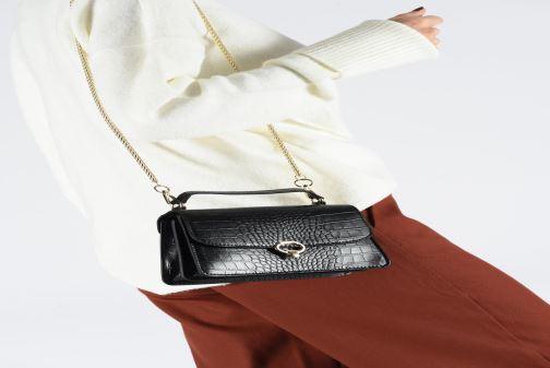Sacs à main Petite mendigote Sac ElvisCroco Embossed leather Noir vue bas / vue portée sac