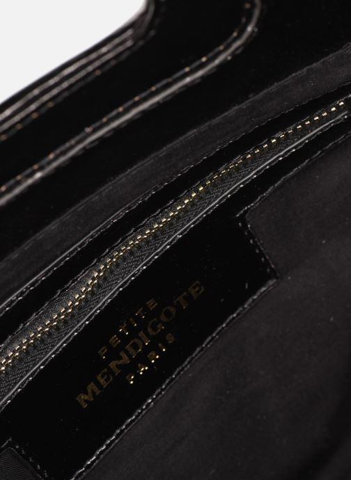 Borse Petite mendigote Sac LITTLE CHARLY crinckled patent lea Nero immagine posteriore
