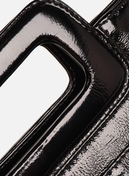Sacs à main Petite mendigote Sac LITTLE CHARLY crinckled patent lea Noir vue gauche