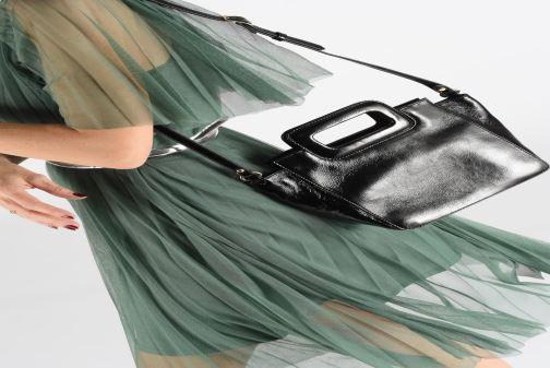 Sacs à main Petite mendigote Sac LITTLE CHARLY crinckled patent lea Noir vue bas / vue portée sac
