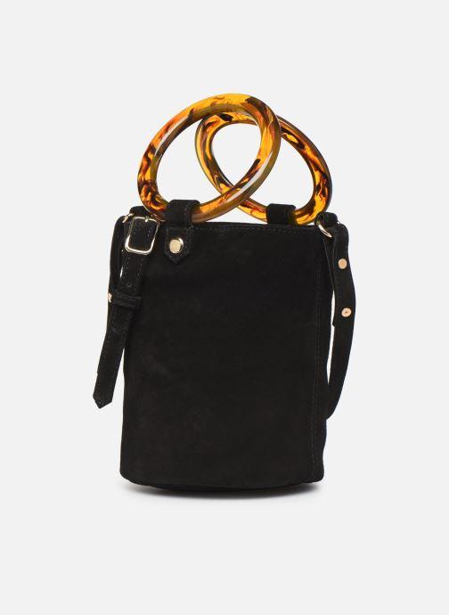 Handtaschen Petite mendigote Sac anneau Ariel cow split schwarz schuhe getragen
