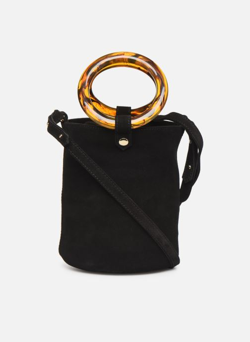 Handtaschen Petite mendigote Sac anneau Ariel cow split schwarz ansicht von vorne